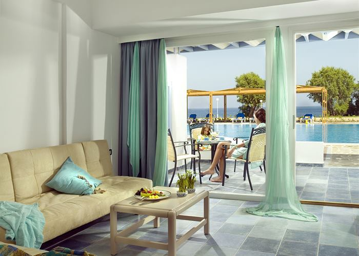 Atlantica Paradise Village - Family Room Sharing Pool Sea View