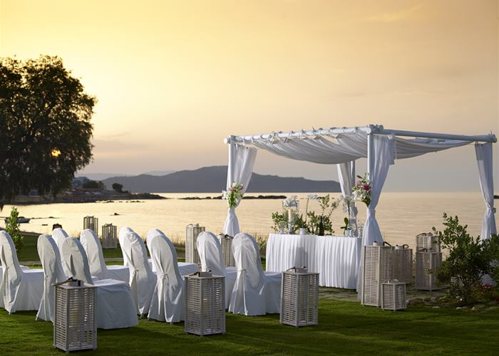 Aegean blue wedding