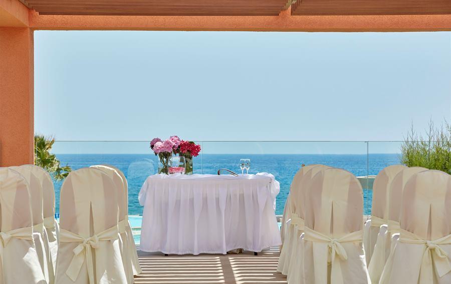 Aegean blue wedding